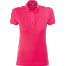 Maier Sports Ulrike Polo Shirt Women Raspberry